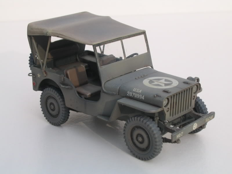 an Italeri Willy's Jeep built by Peolini Design
